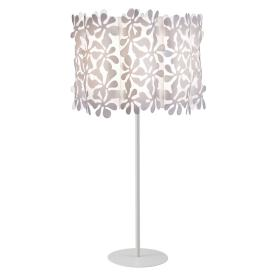 Style Selections 24.4-in White Indoor Table Lamp with Plastic Shade