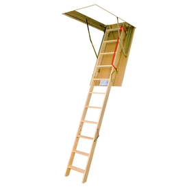 FAKRO 10-1/8-ft Wood 300-lb Type IA Attic Ladder