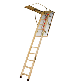 FAKRO 10-1/8-ft Wood 300-lb Type IA Attic Ladder