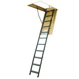 FAKRO 10-1/8-ft Steel 350-lb Type IAA Attic Ladder