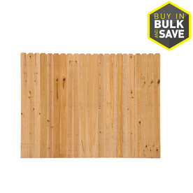 Severe Weather Cypress Wood Fence Panel (Common: 8-ft x 6-ft; Actual: 8-ft x 6-ft)