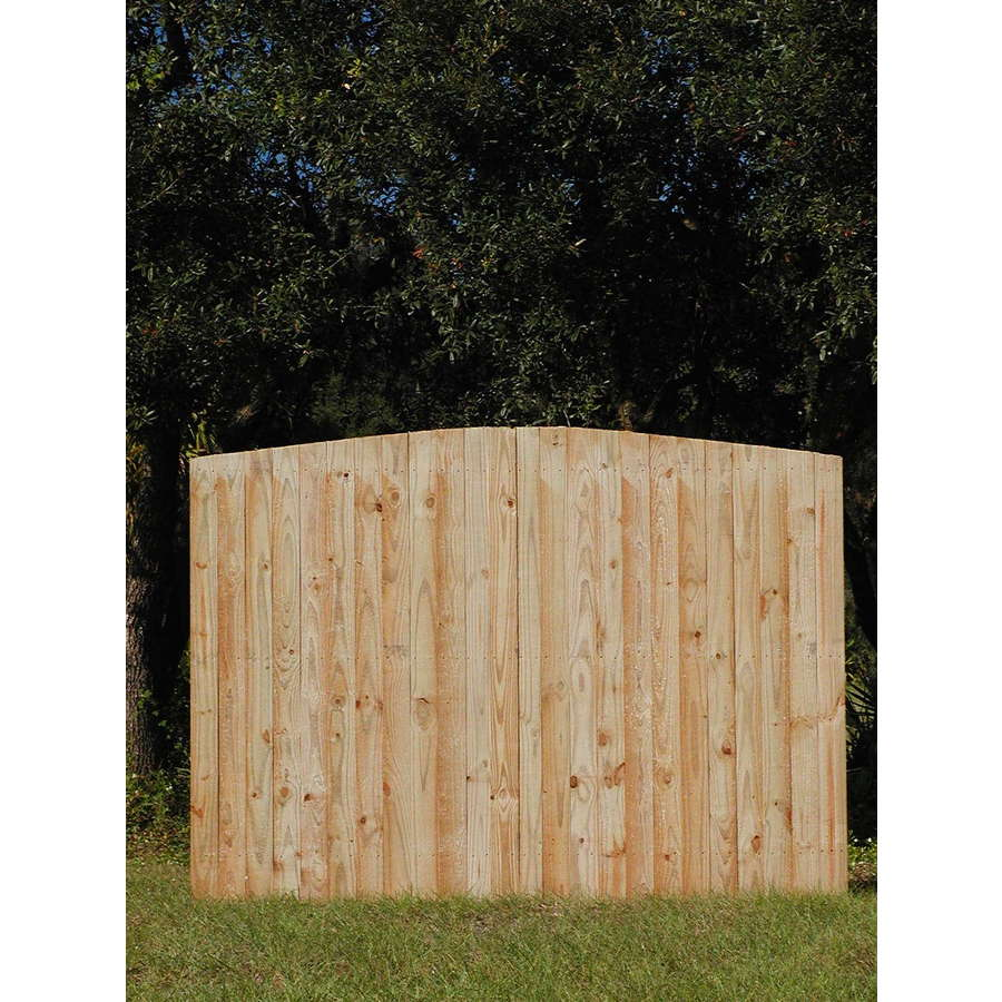 Pine Flat Top Pressure Treated Wood Fence Panel Common 6