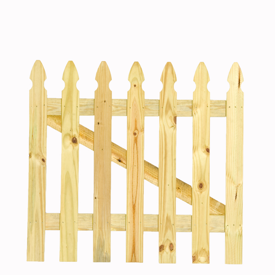 Shop Pine Gothic Pressure Treated Wood Fence Gate Common 3 5 Ft X 3