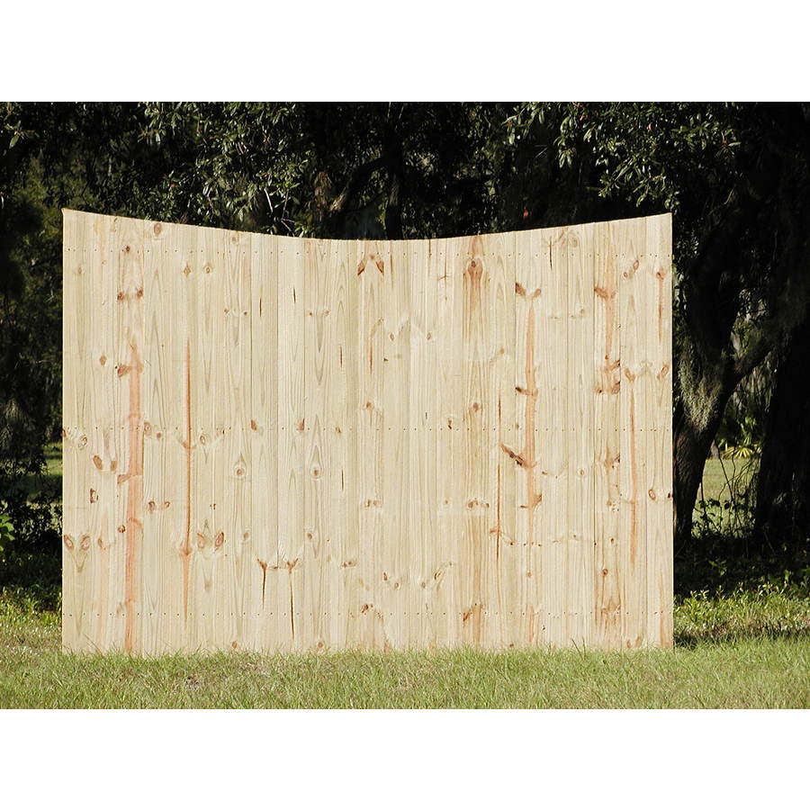 Shop 6 Ft X 8 Ft Pine Flat Top Wood Fence Panel At