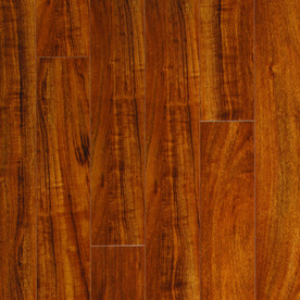 Pergo MAX High Gloss Mahogany Wood Planks Sample (Moneta Mahogany)