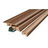 SimpleSolutions 2.37-in x 78.75-in Shabby Teak 4-N-1 Floor Moulding