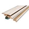 SimpleSolutions 2.375-in x 78.75-in Off White Maple 4-n-1 Floor Moulding