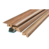 SimpleSolutions 2.375-in x 78.75-in Brown Oak 4-N-1 Floor Moulding
