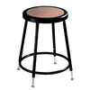 National Public Seating Adjustable Height Black Stool