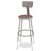 National Public Seating 25- 33 Adjustable Height Metal Shop Stool with Hardboard Seat & Metal Backrest