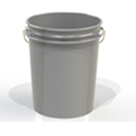 5-Gallon Gray Plastic Bucket