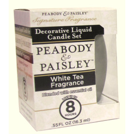 PEABODY &amp; PAISLEY 3.5-in White Tea Frosted Tea Light Candle