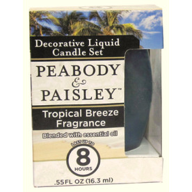 PEABODY &amp; PAISLEY 3.5-in Tropical Breeze Frosted Tea Light Candle