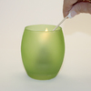 PEABODY & PAISLEY 3.5-in Fresh Cotton Frosted Tea Light Candle
