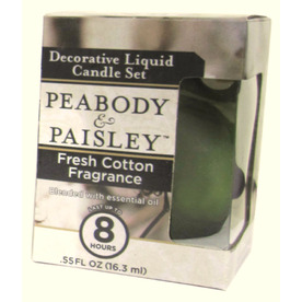 PEABODY &amp; PAISLEY 3.5-in Fresh Cotton Frosted Tea Light Candle