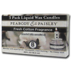 PEABODY &amp; PAISLEY 3-Pack 0.55 oz Fresh Cotton Clear Tea Light Candle