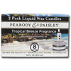 PEABODY &amp; PAISLEY 3-Pack 0.55 oz Tropical Breeze Clear Tea Light Candle