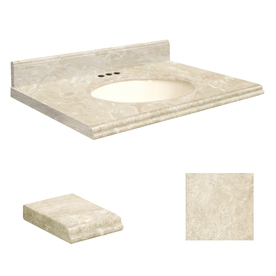 Shop Transolid 31 In W X 19 In D Cream Natural Marble Undermount Single Sink