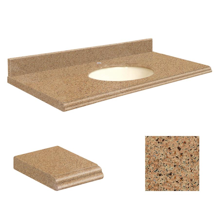 Umbria Brown Quartz Undermount Single Sink Bathroom Vanity Top