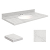 Transolid Natural Marble Bathroom Vanity Top (Common: 43-in x 22-in; Actual: 43-in x 22.25-in)