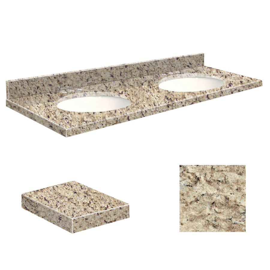 Granite Sink Price : Shop Transolid Giallo Ornamental Granite Undermount Double Sink ...