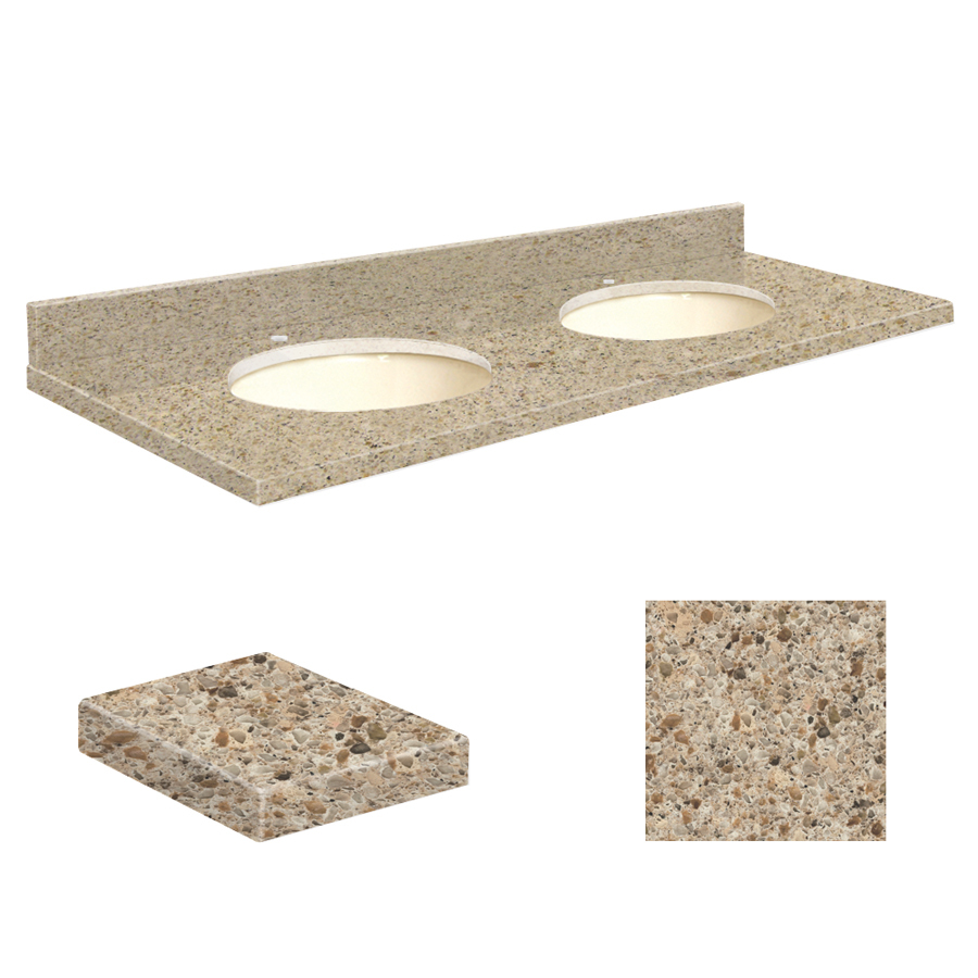 shop transolid sorrento coast quartz undermount double