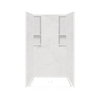 Style Selections Solid Surface Wall Solid Surface Floor 4-Piece Alcove Shower Kit (Common: 34-in x 48-in; Actual: 83-in X