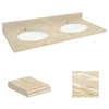Transolid Natural Marble Bathroom Vanity Top (Common: 61-in x 22-in; Actual: 61-in x 22.25-in)
