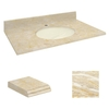 Transolid Natural Marble Undermount Bathroom Vanity Top (Common: 31-in x 22-in; Actual: 31-in x 22.25-in)