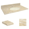 Transolid Natural Marble Undermount Single Sink Bathroom Vanity Top (Common: 43-in x 22-in; Actual: 43-in x 22-in)
