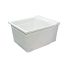 Transolid 22.375-in x 26-in 1-Basin Gray Wall Mount Polypropylene Tub Utility Sink with Drain