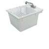 Transolid 22.375-in x 26-in 1-Basin Gray Wall Mount Polypropylene Tub Utility Sink with Drain and Faucet