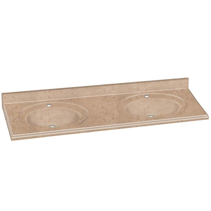Shop transolid decor sand castle solid surface integral for Decorative vanity sinks