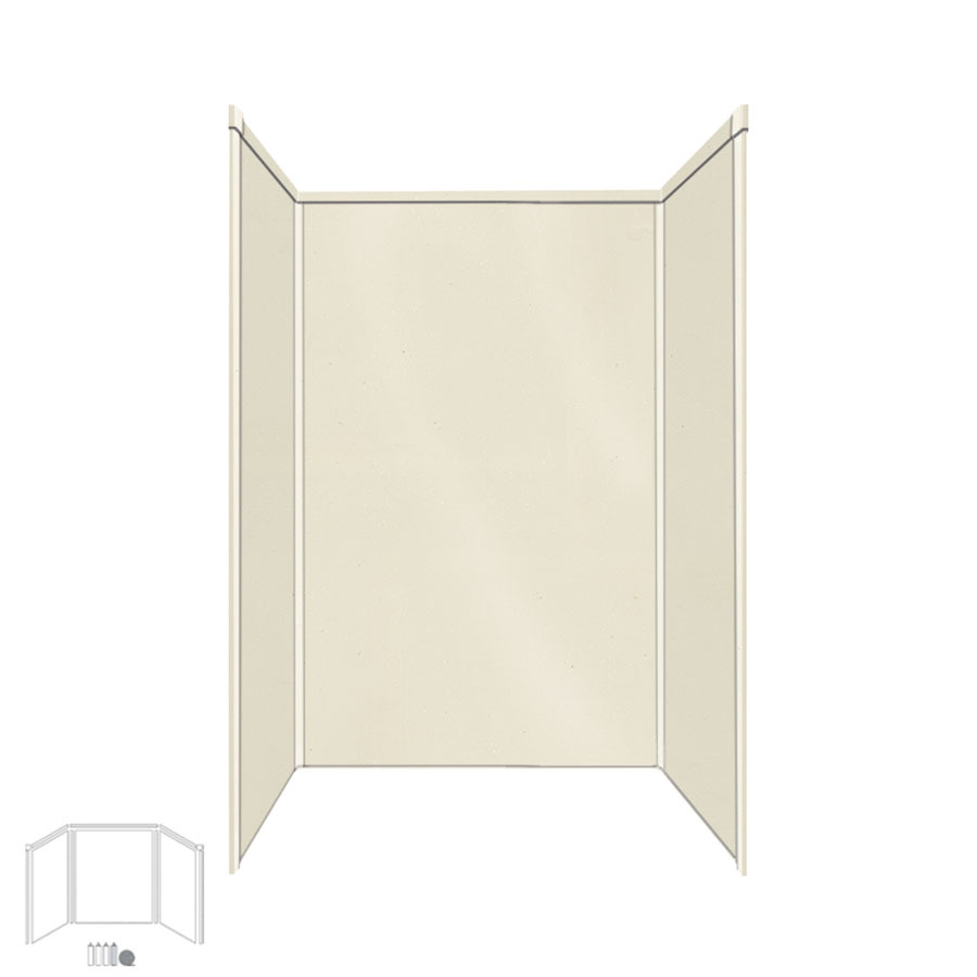 Shop transolid decor biscuit buff fiberglass plastic for Bathroom decor panels