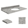 Transolid Granite Undermount Single Sink Bathroom Vanity Top (Common: 43-in x 22-in; Actual: 43-in x 22-in)