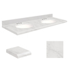 Transolid Natural Marble Undermount Single Sink Bathroom Vanity Top (Common: 37-in x 22-in; Actual: 37-in x 22-in)