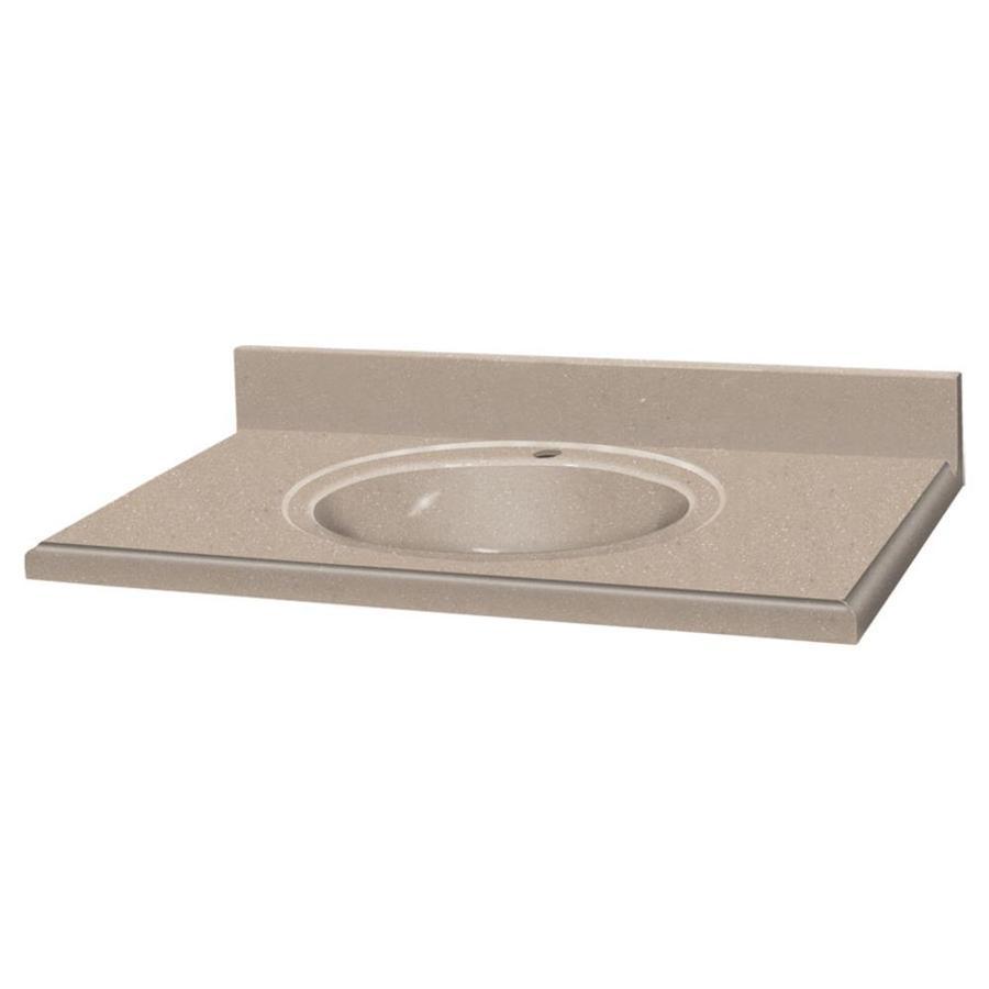 Decor seaside solid surface integral single sink bathroom vanity