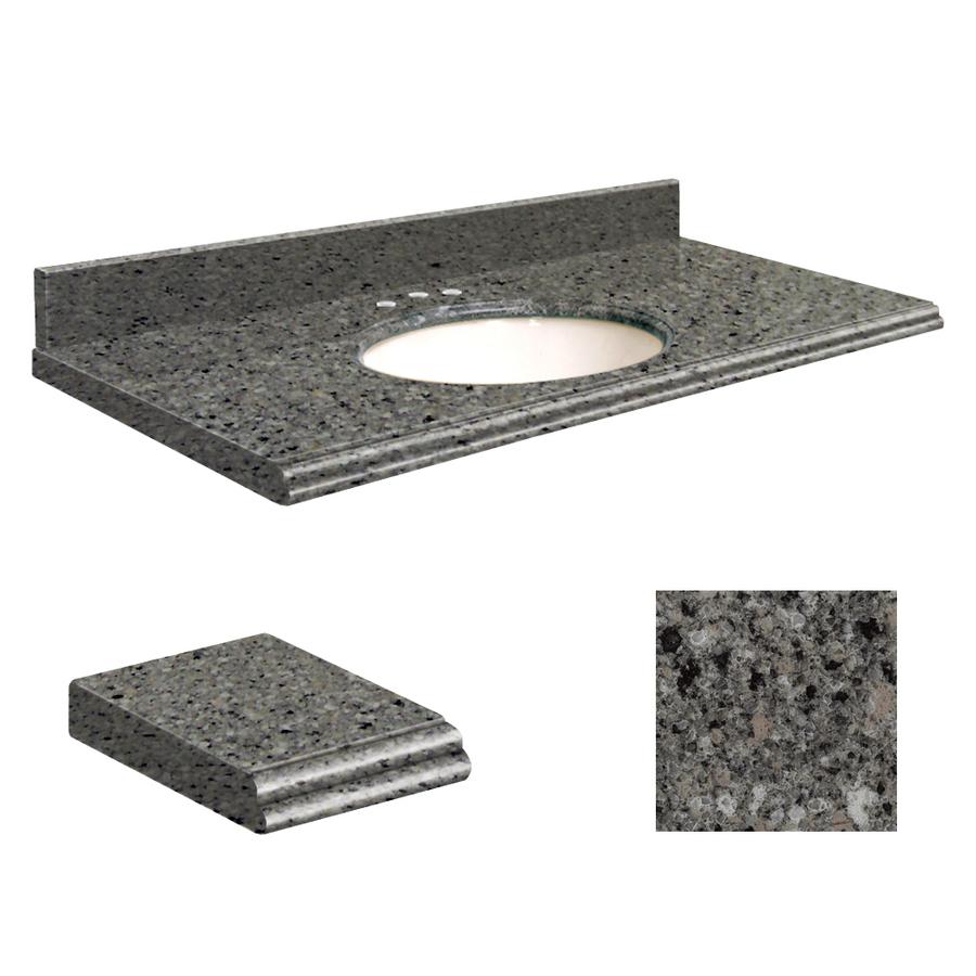 Canterbury Stone Quartz Undermount Single Sink Bathroom Vanity Top