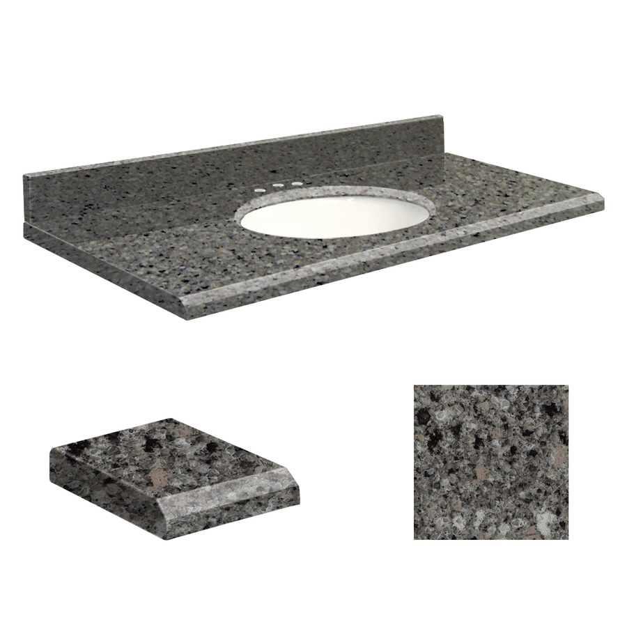 Shop transolid canterbury stone quartz undermount single for Bathroom quartz vanity tops