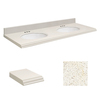 Transolid 61-in W x 22-in D Milan White Quartz Double Sink Vanity Top