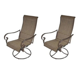 Garden Treasures Beach View Swivel Rocking Chairs & Tiled