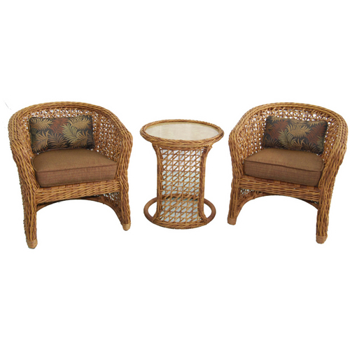 Allen Roth Highcroft Patio Furniture Set With Wicker Chairs Table At Lowes Seating Outdoor