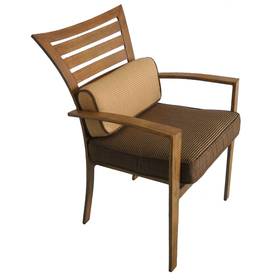 Allen Roth Aluminum Wood Grain Colby Patio Dining Table & Chairs from