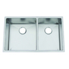 Frigidaire Frigidaire Professional 32.5-in x 18.5-in Brushed Stainless Double-Basin Undermount Commercial Kitchen Sink