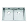 Frigidaire Frigidaire Professional 31.5-in x 18.5-in Brushed Stainless Double-Basin Undermount Commercial Kitchen Sink