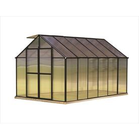 Monticello 12.2-ft L x 8.1-ft W x 7.6-ft H Metal Greenhouse