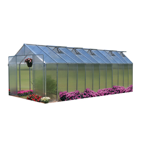 Monticello 24.5-ft L x 8.1-ft W x 7.6-ft H Metal Greenhouse