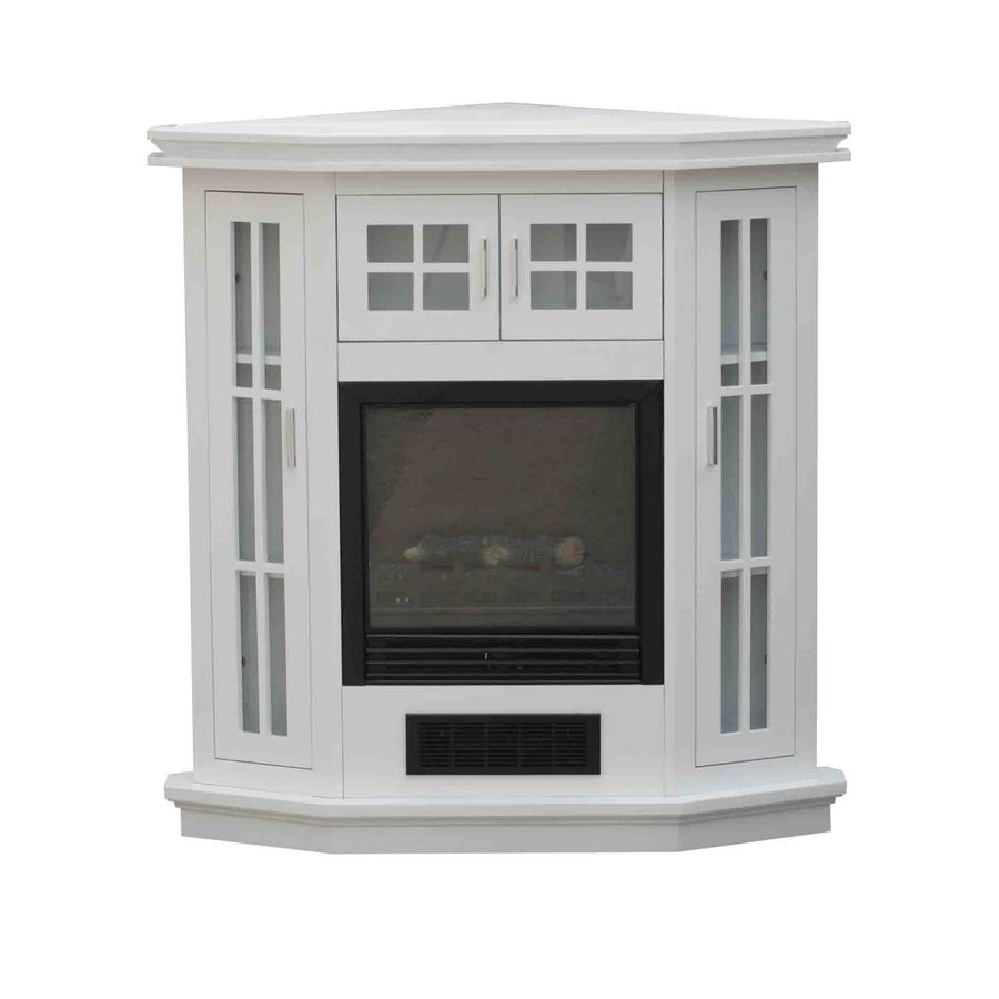 Shop Stay Warm 38 In W 5 115 Btu Arctic White Wood And Metal Corner Or Wall Mount Electric