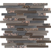 EPOCH Architectural Surfaces 12-in x 14-in Spectrum Mixed Brown Mixed Wall Tile