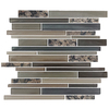 EPOCH Architectural Surfaces Granite Multicolor Beige Linear Mosaic Stone and Glass Wall Tile (Common: 12-in x 14-in; Actual: 11.65-in x 11.75-in)